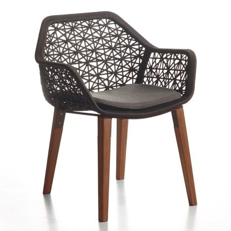 maia rope chair by patricia urquiola for kettal f u r. Black Bedroom Furniture Sets. Home Design Ideas