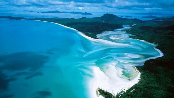 Whitehaven Beach on Whitsunday Island ... rated Australia's best.