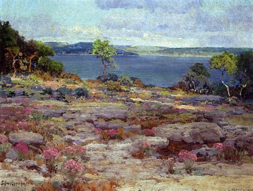 Mountain Pinks in Bloom, Medina Lake, Southwest Texas - Robert Julian Onderdonk