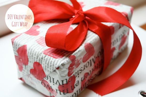 Valenties DIY Gift Wrap