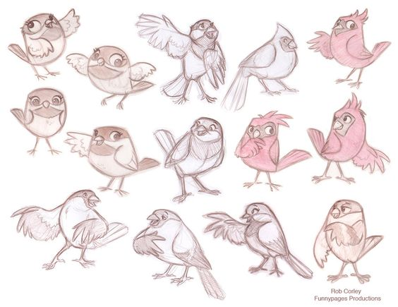 preliminary designs of birds by chewgag on deviantart find more at httpswwwfacebookcomcharacterdesignreferences if youre looking for art