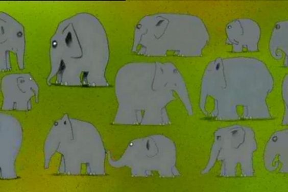 "Creator writes: ""Elmer the Elephant by Mark O'Hanlon. I worked on this shortly before leaving the world of traditional animation. It was a pilot for Elmer which was and still is a very popular childrens book, I assisted on the animation and composited in post production""."