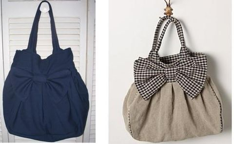One of these bags cost $500 at Anthropology. The other was made for a fraction. Now, if only I knew how to sew pleats...