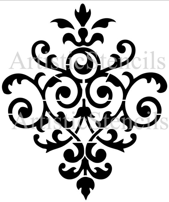 Damask Pattern>>I could try to alter this to fit in Hidden Mickeys ...