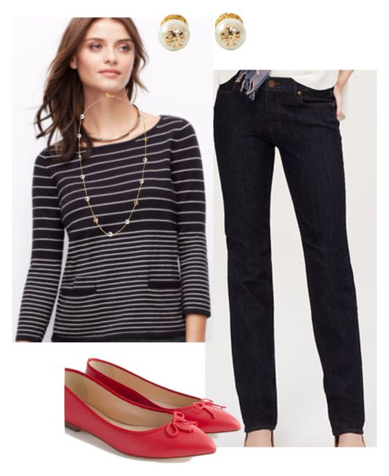 """""""wearing 3.7.16"""" by busyvp on Polyvore featuring Tory Burch and J.Crew"""