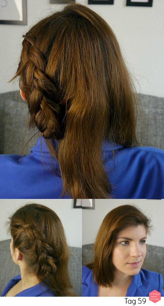 #100daysofshorthairstyles Tag 59: Ein seitlicher #flechtzopf // #100days of #short #hairstyles Day 59: #half #braided #updo // #braid #braids #braidlove #braidinspiration #geflochten #flechtfrisur #flechtzopf #flechten #halfupdo #halboffen #frisur #frisuren #projekt #project #100tage #bob #schulterlang #shorthair #hair