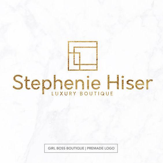 Premade logo / custom logo / minimal logo / feminine branding / feminine logo / premade branding package / logo designing by Girl Boss Boutique fro JustApri