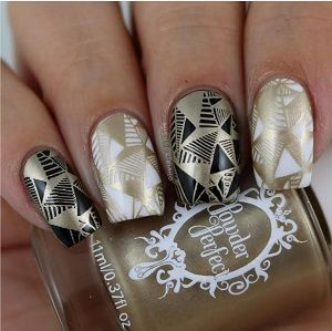 Powder Perfect- Stamping Polish - Gold