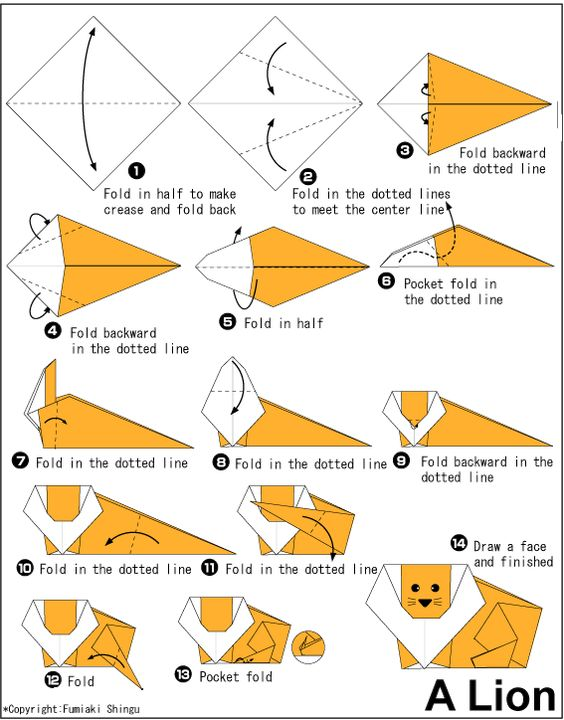 30 beautiful examples of easy origami animals beautiful