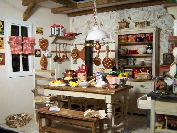 La cuisine rétro rouge - Mooghis Cath Vitrines miniatures