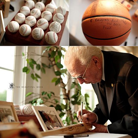 Guests sign basketball instead of guestbook?:
