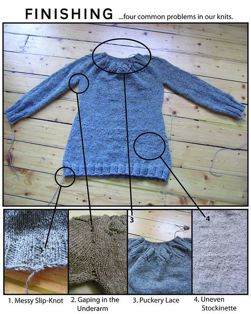 Finishing can make or break your knitted garments! Check out these tips to avoid some common finishing pitfalls.