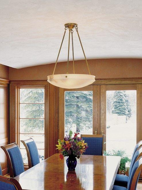 24 Diam Multi Stem Alabaster Pendant Custom Dining Room Tables Dining Room Table Brass Lighting