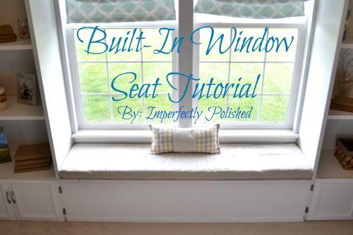 window seat tutorial - family room???