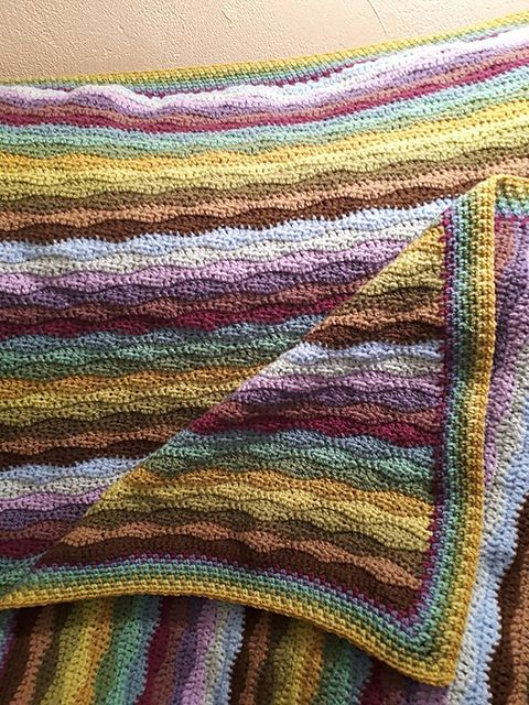 Ravelry Project Gallery For Moorland Blanket Pattern By Lucy Of Attic24 Blanket Blanket Pattern Crochet Blanket