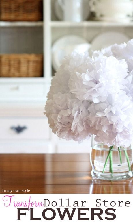 Transform Dollar Store fake flowers and make them look real.