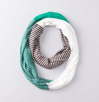 LOFT infinity colorblock stripe scarf - $34.50