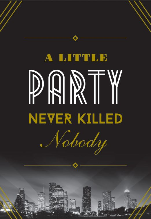 gala invite design by don suttajit a little party never killed nobody great gatsby 1920. Black Bedroom Furniture Sets. Home Design Ideas