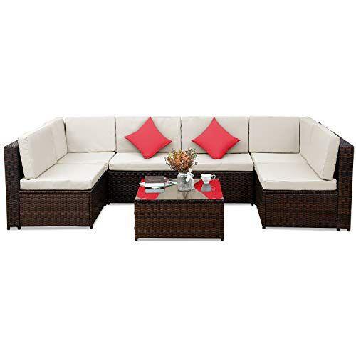 Patio Furniture Set Pe Rattan Sectional Garden Furniture Https Www Amazon Com Dp B0794v5t Patio Sofa Set Rattan Patio Furniture Sectional Patio Furniture
