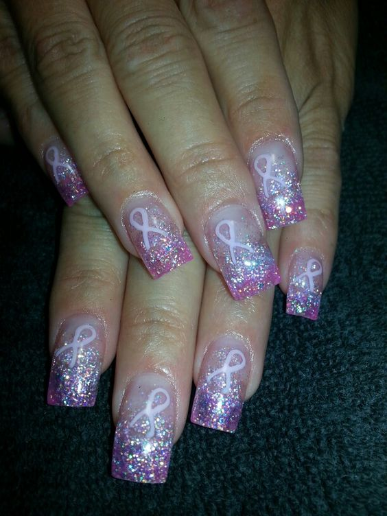 Breast cancer awarness nails!
