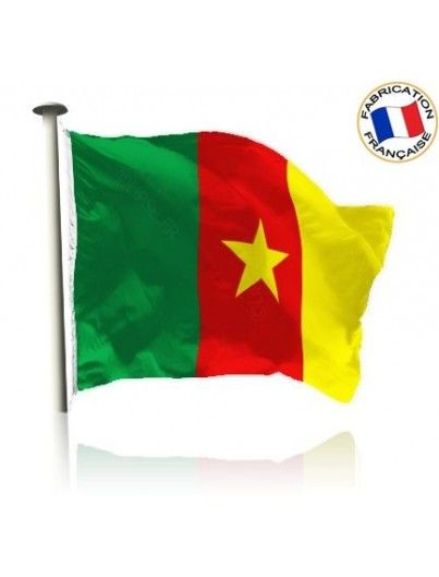 Drapeau Cameroun Made In France by Manufêtes