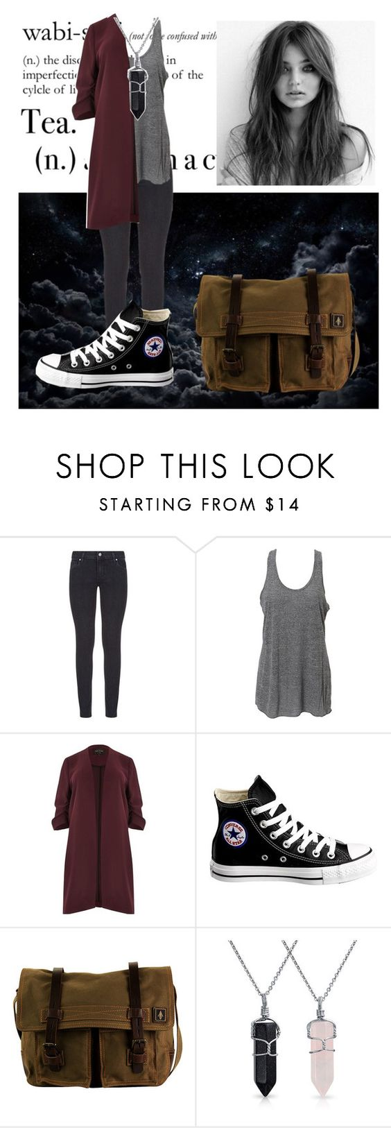 """""""The women in converses"""" by captain-chan ❤ liked on Polyvore featuring Paige Denim, Simplex Apparel, River Island, Converse, DamnDog, Bling Jewelry and plus size clothing"""