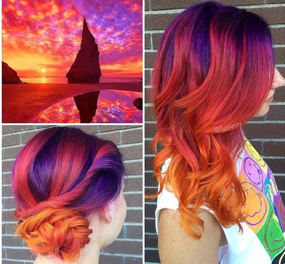 The perfect #sunset hair by @lysseon  www.arcticfoxhaircolor.com:
