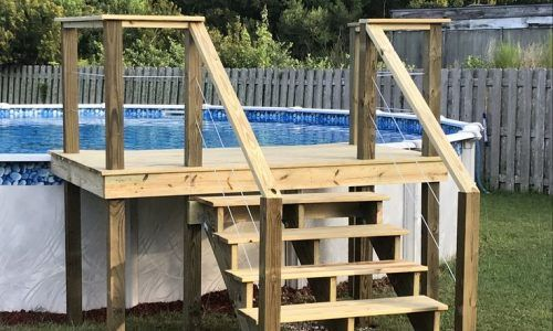 24 Ft Pool Deck Plans Material List Pool Ideas In 2020 Pool Deck Plans Pool Deck Decks Around Pools