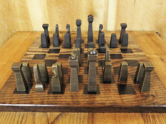projects ideas metal chess pieces. Blacksmith Chess Set by EchoHillForge on Etsy  projects Pinterest sets and Blacksmithing