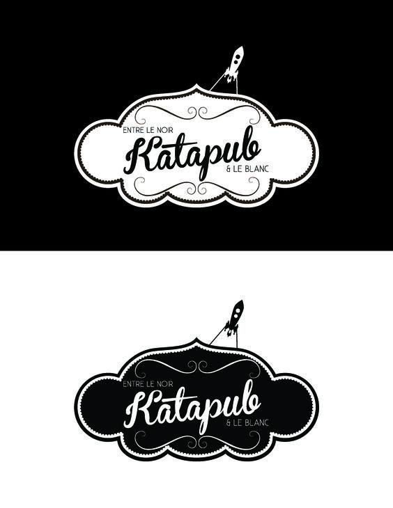 Design graphique Katapub / campagne entre le noir et le blanc.