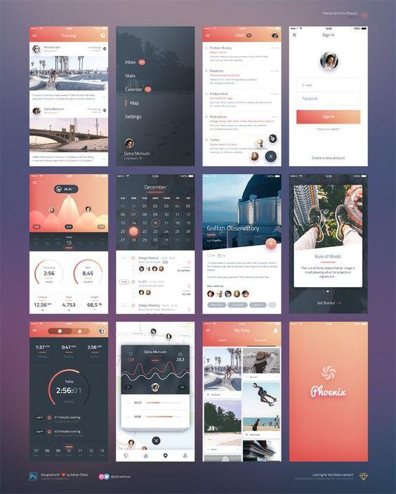 Phoenix-UI-Vol-1-for-iPhone-6-Free-PSD-Sketch