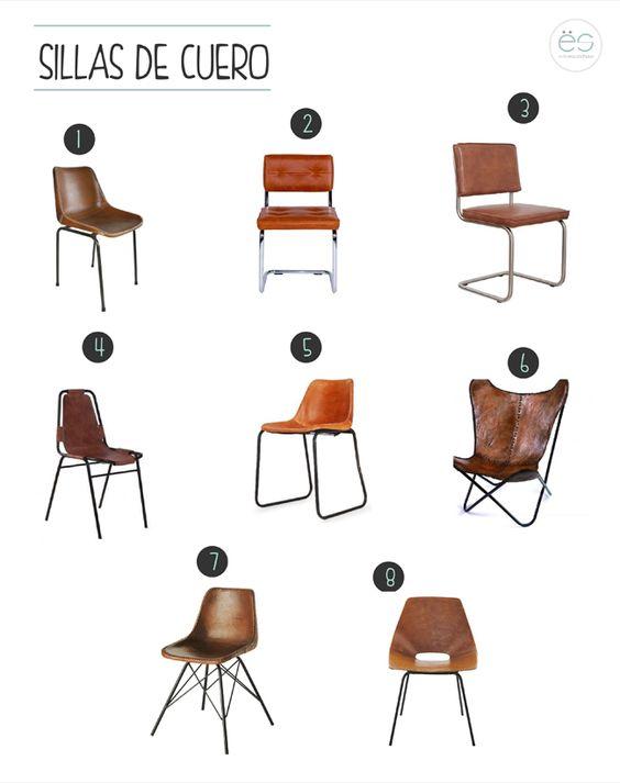 Sillas de cuero estilo escandinavo furniture pinterest for Sillones estilo escandinavo