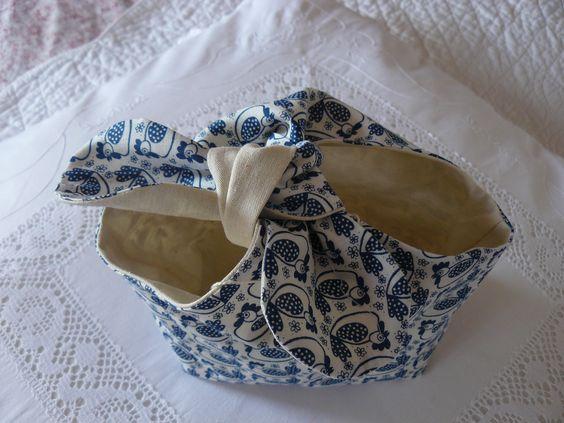 pochon poule bleu