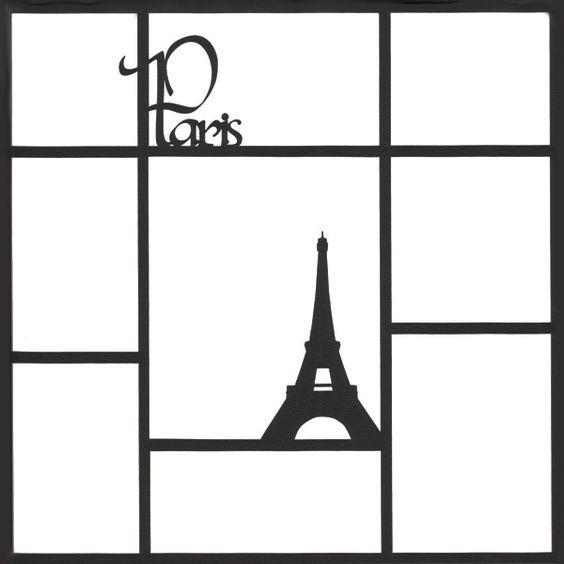 Paris 12 x 12 Photo Overlay Laser Die Cut (¥490) ❤ liked on Polyvore featuring frames, paris and backgrounds