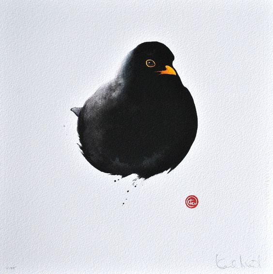 Blackbird by Karl Mårtens - Litografier « Edition Vulfovitch