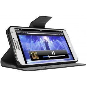 Funda con soporte para Galaxy Note 3 con diseño folio. Con función soporte horizontal, incluye cierrre magnético y tarjetero en el interior
