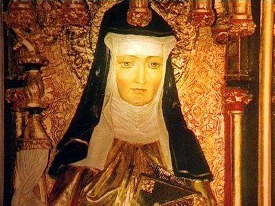 SANTA HILDEGARDA DE BINGEN, em alemão (Bermersheim vor der Höhe, verão de 1098 — Mosteiro de Rupertsberg, 17 de setembro de 1179), foi uma monja beneditina, mística, teóloga, compositora, pregadora, naturalista, médica informal, poetisa, dramaturga, escritora alemã e mestra do Mosteiro de Rupertsberg em Bingen am Rhein, na Alemanha. Foi proclamada pelo Papa Bento XVI, em carta apostólica de 7 outubro de 2012, Doutora da Igreja Universal. Foi autora da mais antiga coletânea musical assinada…