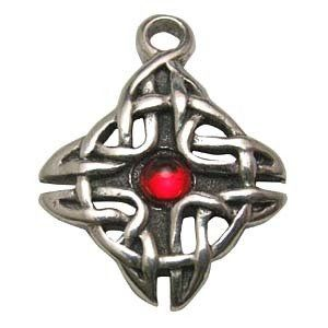 $14.99 Celtic Rhiannon's Knot Necklace Pendant Amulet Talisman Religious Spiritual Wicca Wiccan Pagan Silver Tone Jewelry (Stone Color May Vary From Picture and Will Be Chosen Upon Availability) FREE black cord necklace included.