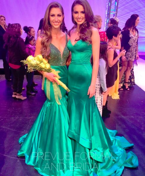 Couture #SherriHill pageant gown. Green pageant dress. Miss Earth ...