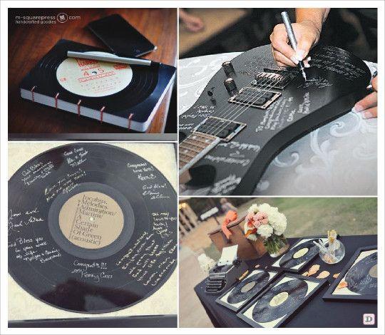 Mariage musique livre d 39 o disque vinyl guitare ecriture mariage pinte - Decoration disque vinyle ...