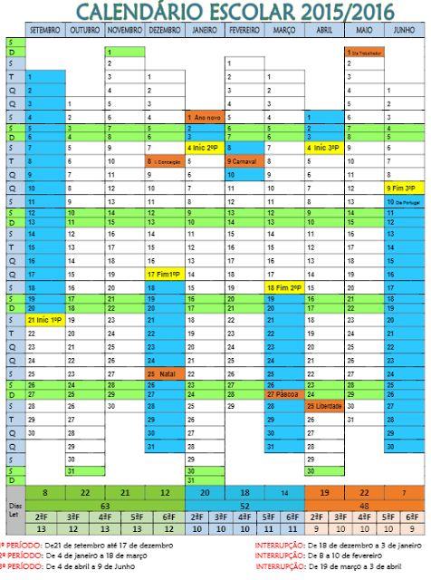 Calend rio escolar 2015 2016 google search calend rios for Calendario ferias