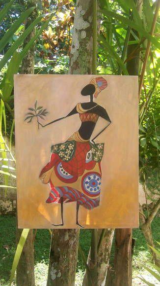 Releitura - Garota Africana Disponível para envio imediato. Óleo sobre tela 50 x 40 Sem moldura. R$ 200,00