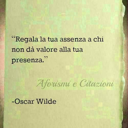 oscar wilde - assenza: