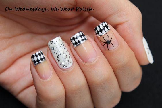 Black White Nail Designs Tumblr Pinterest