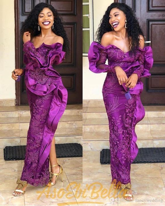 Ravishing Asoebi Styles For Wedding Guest African Evening Dresses Lace Evening Dresses Lace Dress Styles