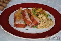 Receita de Pernil de porco assado com chutney de manga em receitas de carnes, veja essa e outras receitas aqui!