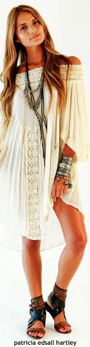 Boho bohemian hippy hippie gypsy style. For more follow ...