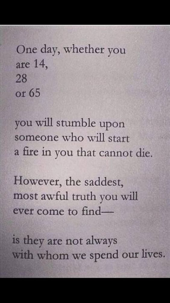 And this is what hurts the most in life