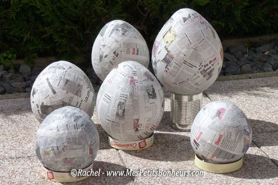 Oeuf de Pâques déco en papier mâché – Bricolage pour petits et grands