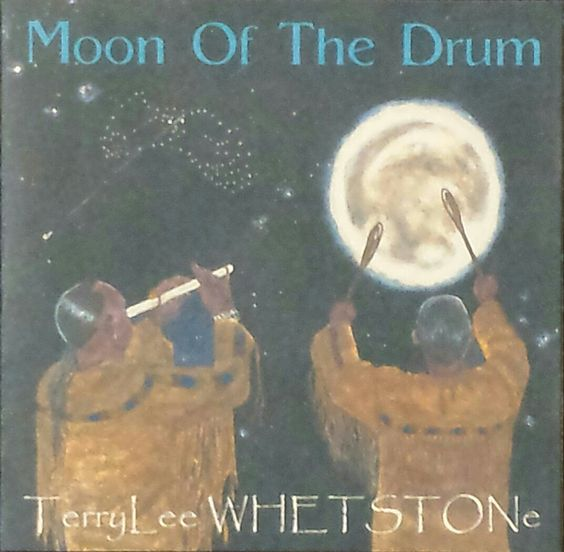 Moon Of The Drum CD - 2010, This CD also was a Finalist at the NAMA's. A CD as its name. Filed with a lot of drums and base sounds along with may different flutes used in this CD. A feet moving CD and not one to use to meditate to. I did the painting for this cover also. Look closely at the sky to find stars forming the Horned Owl and a shooting star going across the sky.